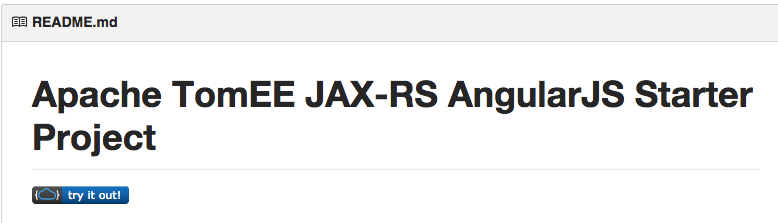 TomEE JAX-RS AngularJS Starter Project